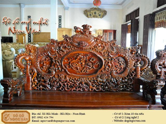 Bộ Rồng Đỉnh gỗ Hương