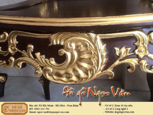 Bộ bàn ghế Lu - Y thiếp vàng Ý