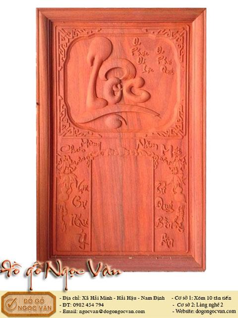 Đốc lịch tết chữ LỘC gỗ Hương