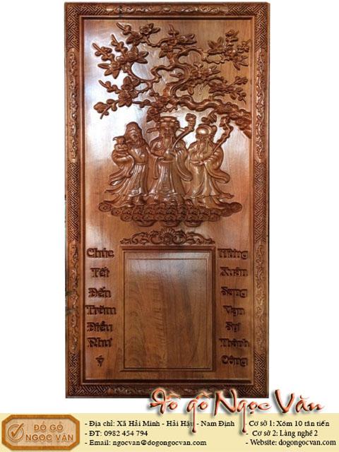 Lịch gỗ treo tường Phúc Lộc thọ