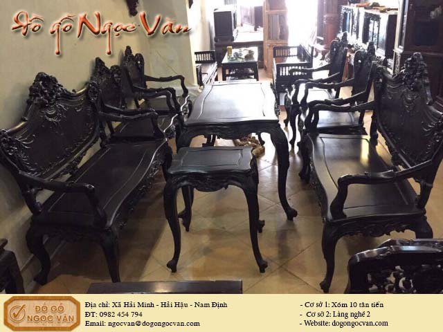 Bộ bàn ghế Luis gỗ gụ