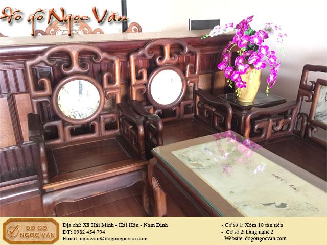 Bàn ghế Salong móc gỗ gụ
