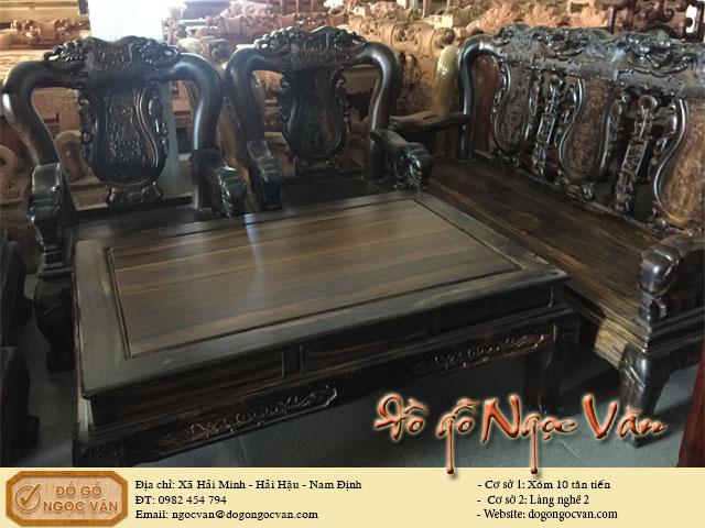 Bộ bàn ghế Minh gỗ mun
