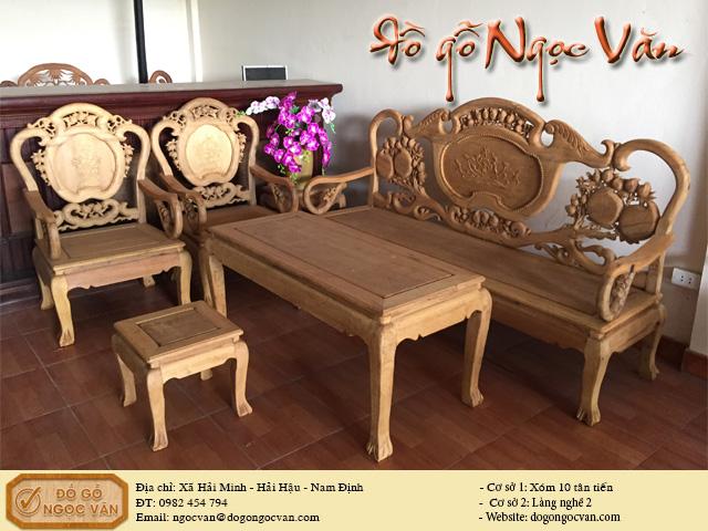 Salon Thái Phượng gỗ gụ