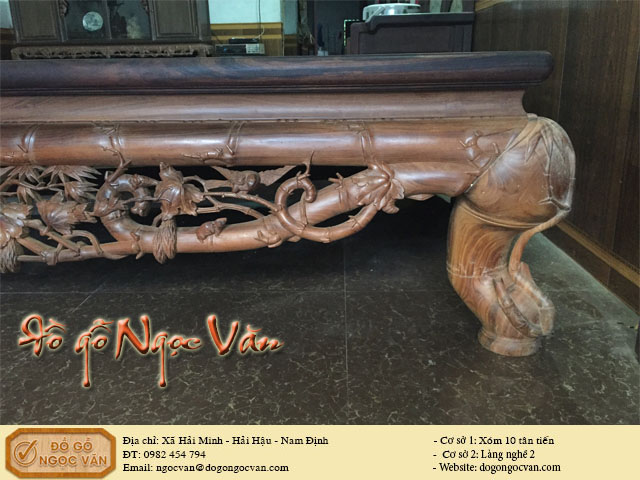 Sập trúc gỗ gụ Quảng Bình
