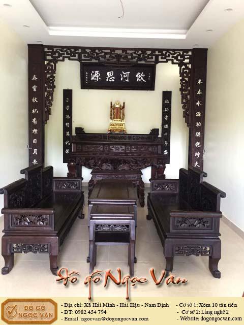 Bộ bàn thờ hoành phi câu đối cửa võng