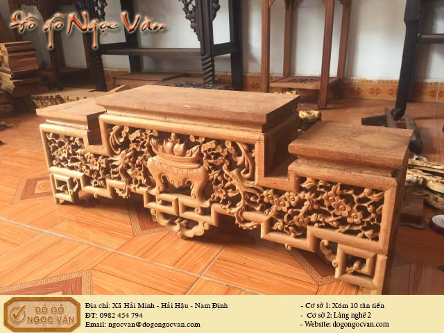Kệ tam sơn gỗ gụ