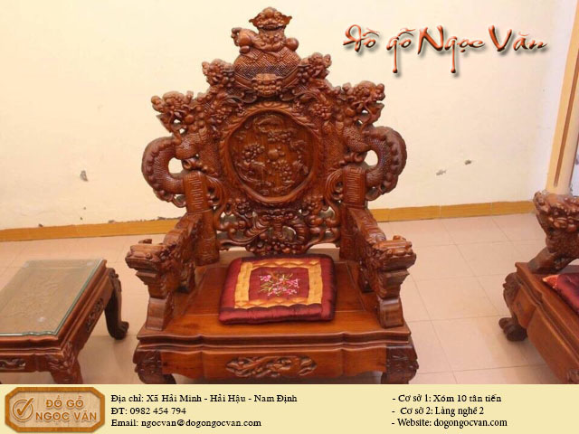 Bộ bàn ghế rồng đỉnh cao cấp