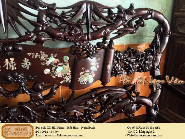 Salong trúc gỗ gụ ta