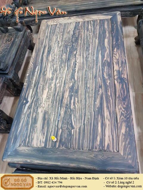 Bàn ghế đỉnh Nghê gỗ mun
