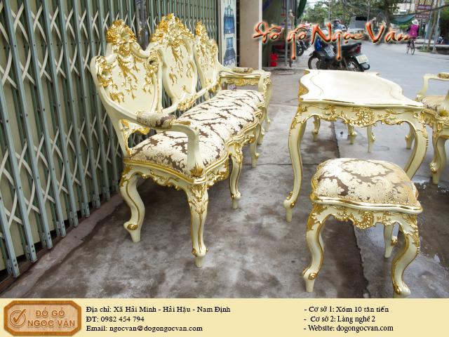 Bộ bàn ghế louis