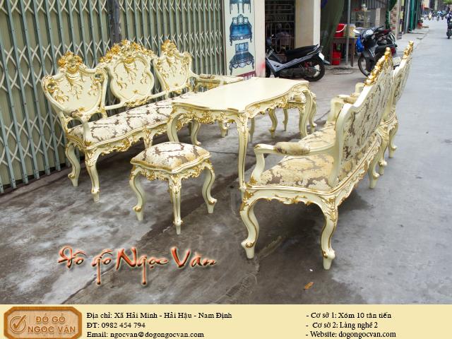 Bộ bàn ghế louis giá vàng Ý