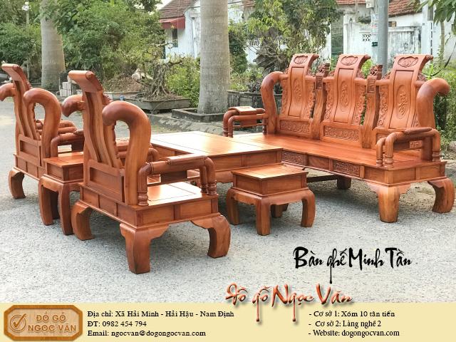 Bàn ghế Minh Tần gỗ hương đá