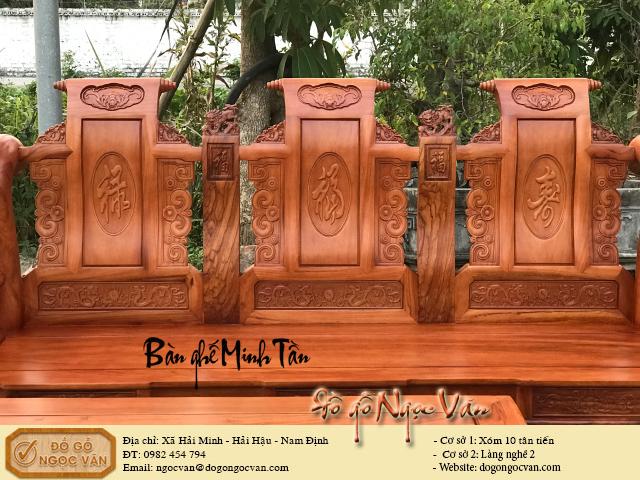 Bộ Bàn ghế Minh tần gỗ hương đá