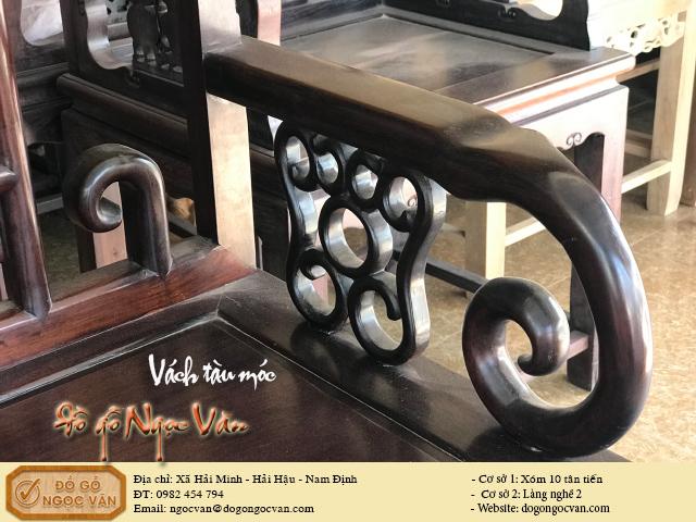 Bộ ghế vách tàu gỗ gụ