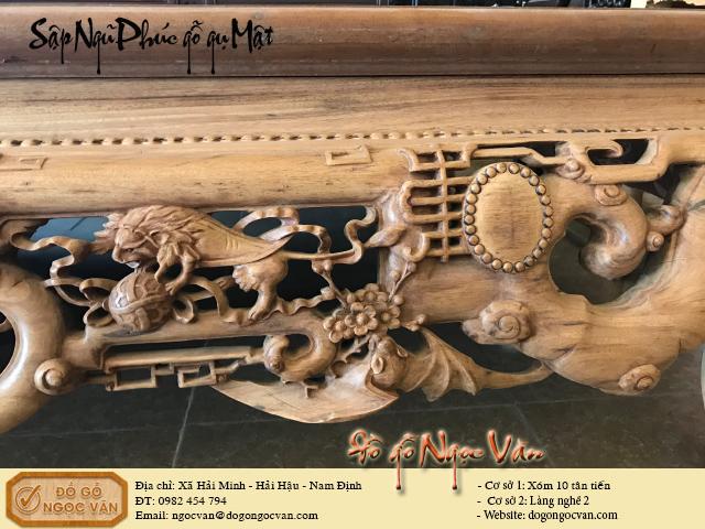 Sập Ngũ Phúc gỗ gụ Ta ( Gụ Mật Quảng Bình )