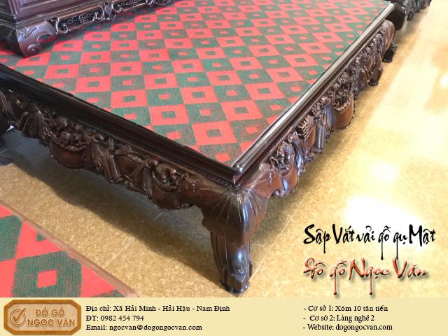 Sập vắt vải gỗ gụ Mật Quảng Bình