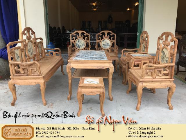 Bàn ghế móc gỗ gụ ta, gụ mật Quảng Bình