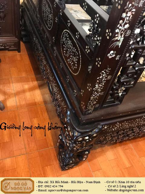 Giường long sàng gỗ gụ