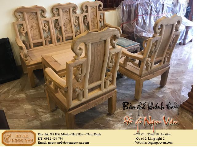 Bàn ghế khánh thủy gỗ gụ