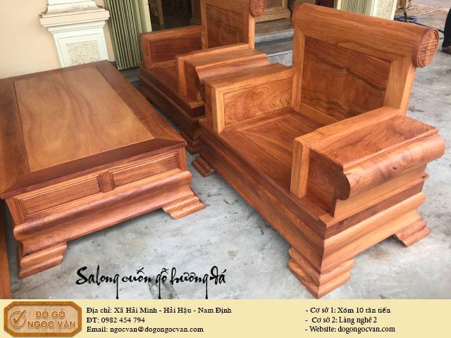 Salong hộp tựa cuốn gỗ hương đá, salong gỗ gụ, gỗ trắc