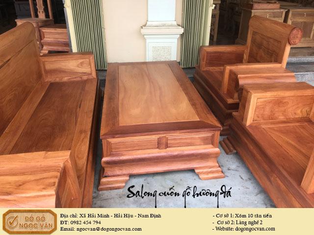 Salong hộp tựa cuốn gỗ hương đá, salong minh hộp, minh voi, gỗ gụ, gỗ trắc