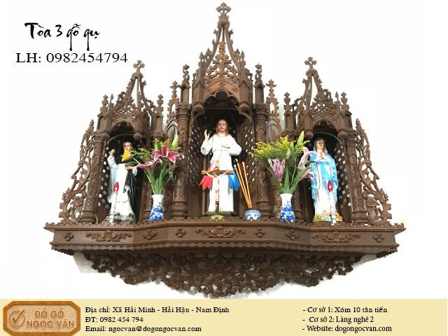 Tòa công giáo gỗ gụ, tòa 3 công giáo, tòa thiên chúa